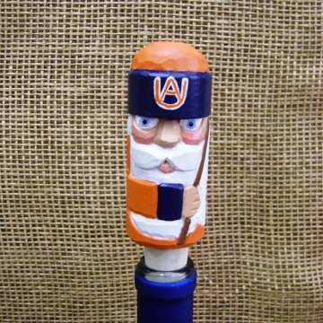Auburn Tigers Handcarved Wine Stopper or Cork