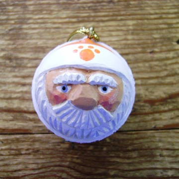 Clemson Tigers Golf Ball Santa Christmas Ornament