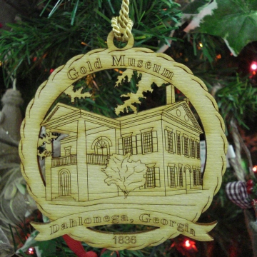 Buy Online Gold Museum Souvenir Ornament Cranberry Corners Gift Shop Dahlonega
