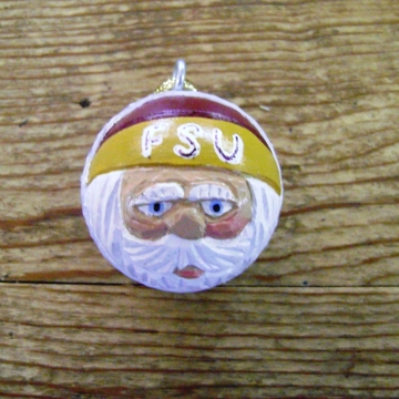 Florida State University Santa Claus Golf Ball Ornament