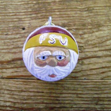 Florida State University Santa Claus Golf Ball Ornament
