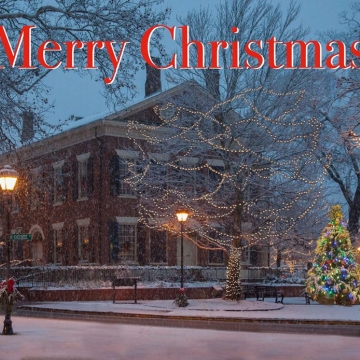2018 Jack Anthony Dahlonega Gold Museum Christmas Card Cranberry Corners