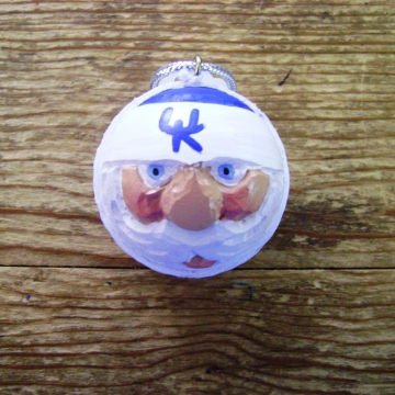 Kentucky Wildcats Golf Ball Christmas Ornament