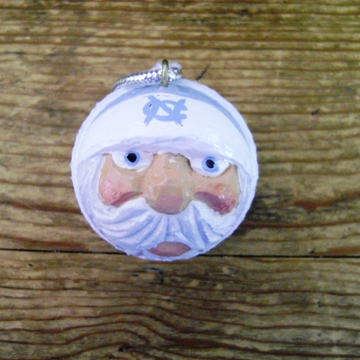 North Carolina Tarheels Golf Ball Santa Christmas Ornament