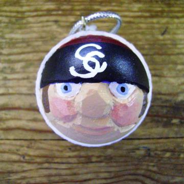 South Carolina Gamecocks Golf Ball Christmas Santa Claus Ornament