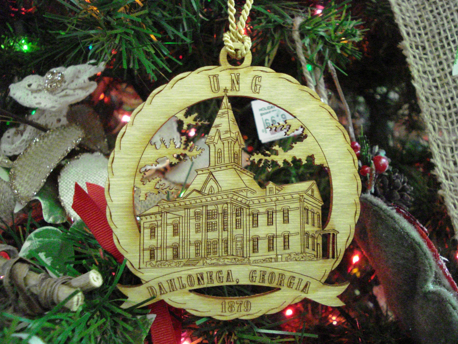 University Of North Georgia Souvenir Ornament Cranberry Corners