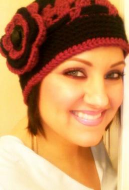 Cranberry Corners Customer Photo | Handmade Crochet Flapper Hat
