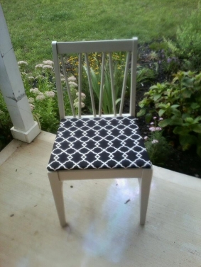 Decorating with Antiques | Reupholstered + Repurposed Chair