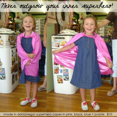 Superhero Capes by Ally David...in action!