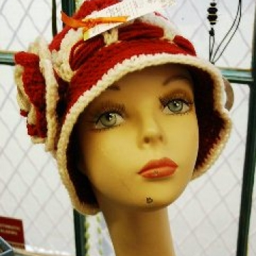 Cranberry Corners Handcrafted Gifts | Crochet Flapper Hats