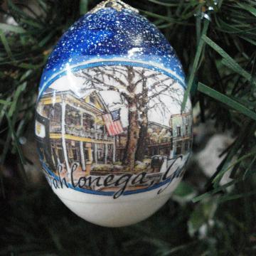 Dahlonega Souvenir | Egg Ornament