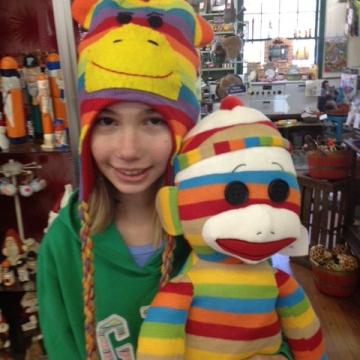Cranberry Corners Customer Photo | Striped Sock Monkey