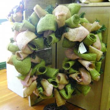 Burlap Wreath by Kranberry Kathy