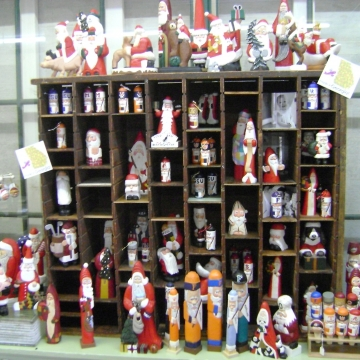 Cranberry Corners Handcrafted Gifts | Santa Woodcarvings by Jim Clement